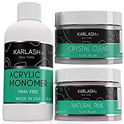 Karlash-Professional-Polymer-3-Piece-Kit-Acrylic-Powder 10 Best Acrylic Nail Kits for Beginners and Pros for Ultra-Amazing Manicures