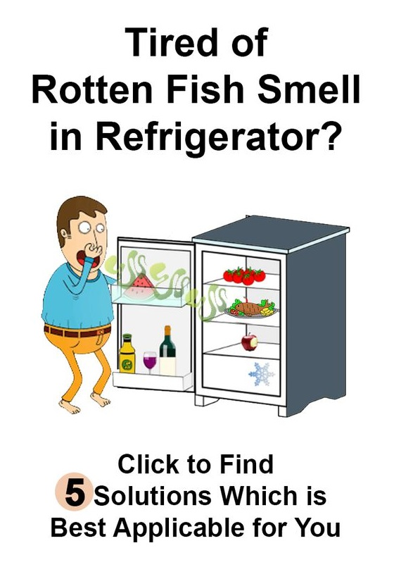 How do I get rid of smells in my refrigerator?