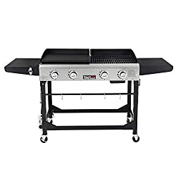 Royal-Gourmet-GD401-Portable-Propane-Gas-Grill-and-Griddle-Combo-with-Side-Tabl Taste buds craving a tasty breakfast? 11 Best Outdoor Gas Griddles for you!
