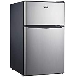 Walsh-WSR31TS1-Compact-Refrigerator-Dual-Door-Fridge-Adjustable-Mechanical-Thermostat-with-True-Freezer-Reversible-Doors3.1-Cu.Ft-Stainless-Steel-Look Feeling the Heat? Here are the 10 best refrigerators under $500!