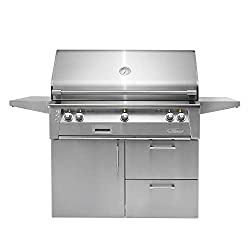 Alfresco-ALXE-42SZCD-LP-42-Liquid-Propane-Sear-Zone-Grill-Cart Bring Luxury & Outdoor Cooking Together with the 8 Best Alfresco Grills!