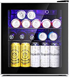 Antarctic-Star-Mini-Fridge-Cooler-60-Can-Beverage-Refrigerator-Glass-Door-for-Beer-Soda-or-Wine-–-Glass-Door-Small-Drink-Dispenser-Machine-Clear-Front-Removable-for-Home-Office-or-Bar-1.6cu.ft_ Show Off your Parties with these 13+ Best Mini Outdoor Fridge