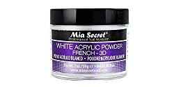 Mia-Secret-French-3D-Acrylic-Powder-White-2-Ounce Unleash Creativity on your Nails with these 19 Best Acrylic Powders Now