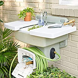 Modern-Home-Wall-Mounted-Outdoor-Garden-Sink-Station Make every evening come to life with these 10 Best Outdoor Kitchen Sinks