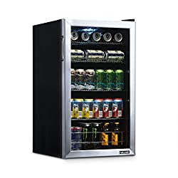 NewAir-Beverage-Refrigerator-and-Cooler-with-Glass-Door-126-Can-Capacity-Freestanding-Mini-Fridge-in-Stainless-Steel-with-Adjustable-Shelves-NBC126SS02 Show Off your Parties with these 13+ Best Mini Outdoor Fridge