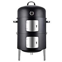 Realcook-Vertical-17-Inch-Steel-Charcoal-Smoker Begin a Love Affair with your food through these Best Charcoal Smokers
