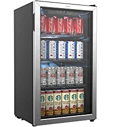 hOmeLabs-Beverage-Refrigerator-and-Cooler-120-Can-Mini-Fridge-with-Glass-Door-for-Soda-Beer-or-Wine-Small-Drink-Dispenser-Machine-for-Office-or-Bar-with-Adjustable-Removable-Shelves Show Off your Parties with these 13+ Best Mini Outdoor Fridge