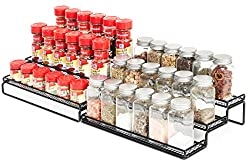 3-Tier-Expandable-Spice-Rack-Organizer-for-Cabinet-Pantry-or-Countertop-Kitchen-Step-Shelf-with-Protection-Railing Organize your Kitchen like a Legend with these Best Spice Racks Now!
