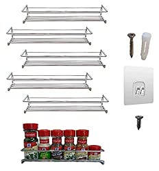 6-Pack.-Wall-mount-spice-rack-organizer-for-cabinet.-Spice-shelf.-Seasoning-organizer.-Pantry-door-organizer.-Spice-storage.-12-x-3-x-3-inches.-Premium-Present-brand Organize your Kitchen like a Legend with these Best Spice Racks Now!