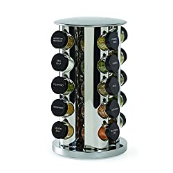 Kamenstein-Revolving-20-Jar-Countertop-Rack-Tower-Organizer-with-Free-Spice Organize your Kitchen like a Legend with these Best Spice Racks Now!