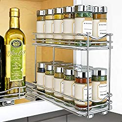 Lynk-Professional-Slide-Out-Double-Spice-Rack-Upper-Cabinet-Organizer Organize your Kitchen like a Legend with these Best Spice Racks Now!